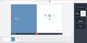 Brugergrænsefladen i Adobe Spark